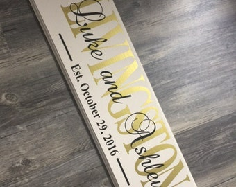 Large personalized established name sign