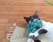 Caterpillar Cat Toys, Yarn Kitty Kickers, Optional Catnip, Valerian, Bell