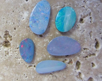 Natural Opal Doublets 5 stones