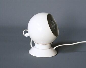 VINTAGE DANISH Magnetic Lamp, ABO Randers, White Spot Wall Lamp, Eyeball Desk Lamp, Danish Table Lamp, Retro Desk Lamp, Danish Modern Lamp
