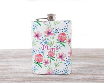 Cute Flask for Woman | Custom flask | Personalized Bridesmaid's gifts | 21st birthday gift for her