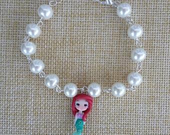 The little mermaid Ariel bracelet, handmade