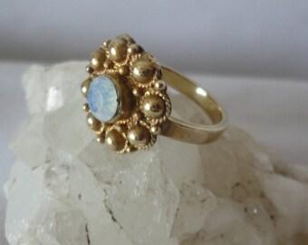 Gorgeous Vintage Gold filed Opan Ring*****.