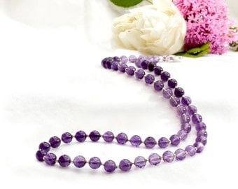 Amethyst Ombre Necklace with 925 sterling silver *Free worldwide shipping*
