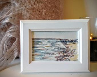 On the Shore - original framed watercolour