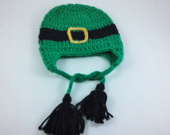 "Leprechaun ""Belted"" Beanie - Infant to Child Sizes"