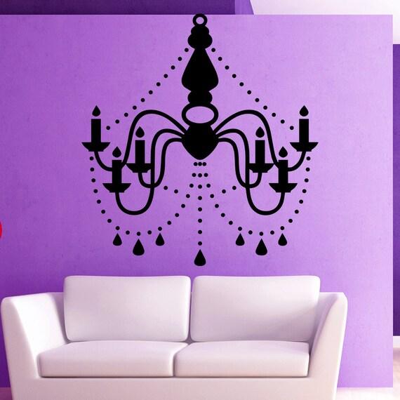 Chandelier Wall Decal Vinyl Sticker Decals Art Home Decor