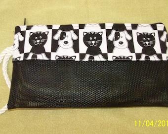 Mesh Zipper Pouch / Project Bag / Pet Bag / Cosmetic Bag