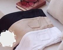 simple khaki pants jeans BJD sd 1/3 Black Almond brown White