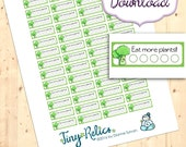 Printable Daily Veggie Trackers for Planners & Calendars