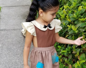 Snow White Rags Pinafore
