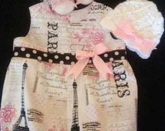 Paris Bubble Romper Baby Set