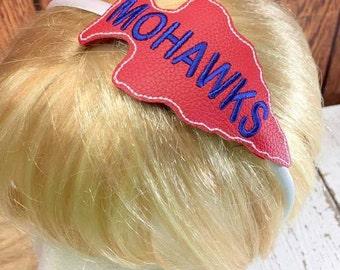 Mohawks - Arrowhead - Mascot -  Headband Slip On  - DIGITAL EMBROIDERY DESIGN
