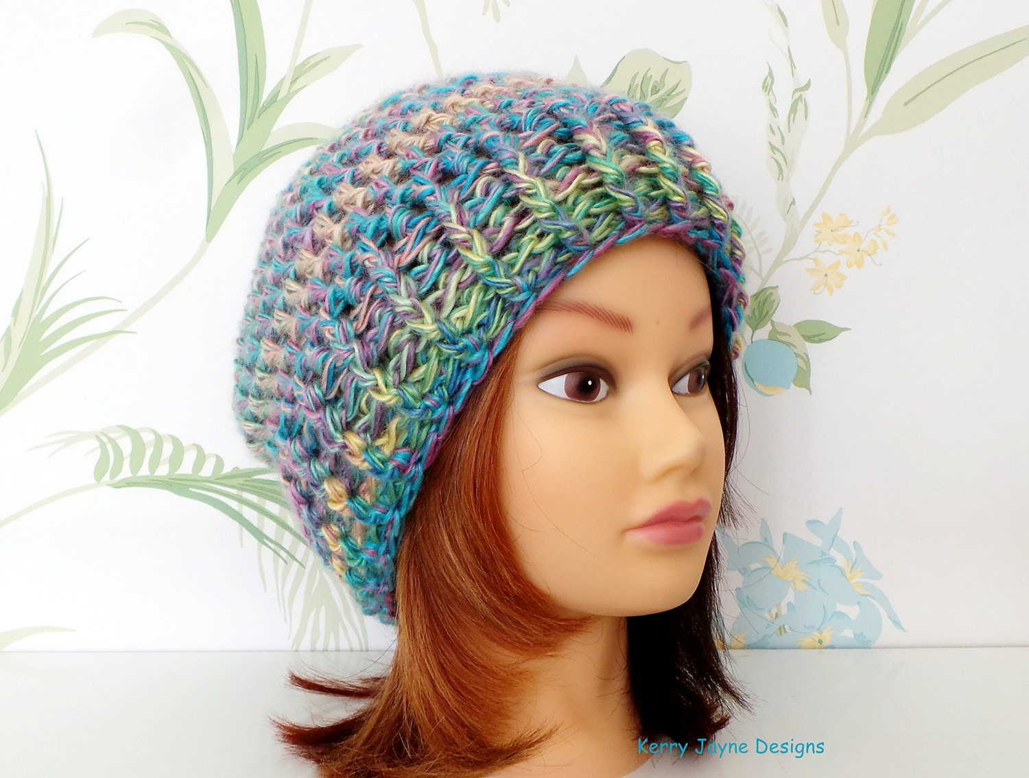 womens slouchy beanie crochet pattern and easy