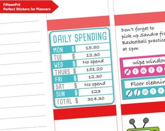 Daily spending sticker -B449