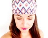Tribal Headband - Boho Headband - Southwest Head Band - Southwest Vibes - Zen - Yogi - Good Vibes Only - Namaste - Fitness Headband