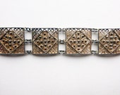 Filigree cannetille hand made 800 silver sectional bracelet 1900s