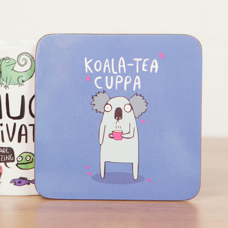 Koala Tea Cuppa Coaster Cute Coaster Pun Coaster Animal
