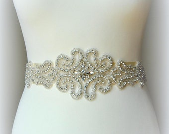 Bridal Wedding Belt Sash Rhinestone Wedding Gown Belt Sash Flower Girl Bridesmaid Gift Sash belt Crystal Dress Sash Belt, Wedding belt sahs