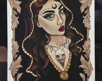 Dark witch A4 Print