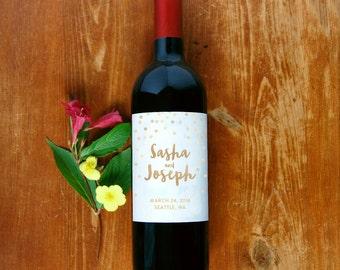Wine Bottle Label #2 - Custom - Personalized - Wedding Wine Bottle Sticker