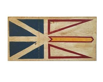 Newfoundland and Labrador Wood Flag - wooden sign - Newfy - Newfoundland - Newfoundland sign - outdoor sign - outdoor flag - Newfy flag