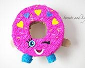 Mini Donut Pinata; Mini Donut; Cute Donut Pinata; Adorable donut Pinata; Pink Donut Pinata; Sprinkles Donut Pinata; D'Lish Inspired Donut