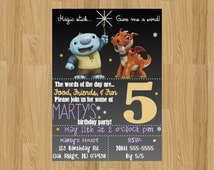 Wallykazam Invitation | wallykazam birthday invitation | wally birthday invitation | wally invitation