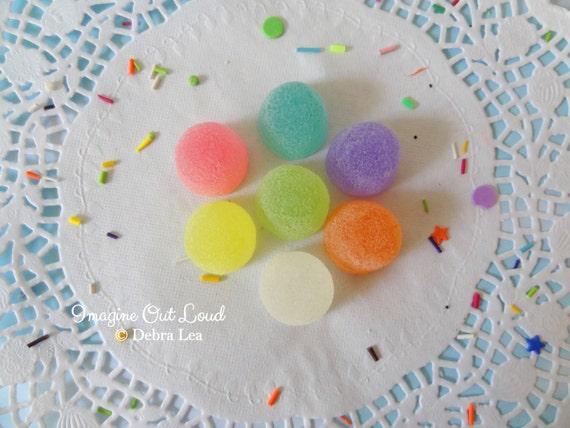 Fake Candy Rainbow PASTEL LARGE Gumdrops Display Food Prop Decor