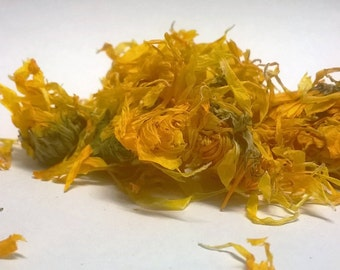 Organic Dried Calendula (Calendula officinalis) Flowers. Use as Tea/infusion or Cosmetic/Herbal ingredient