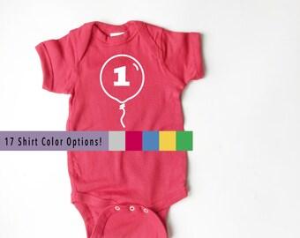 Balloon Birthday Shirt! Onesie *and* T-shirt options!