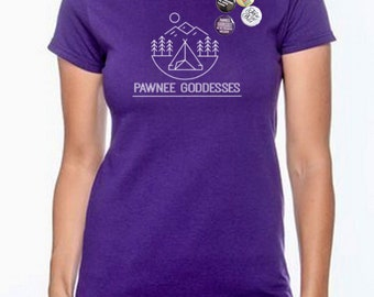 Parks and Recreation. Pawnee Goddess We're Freaking Awesome shirt for women.  **Check out our button combos!**