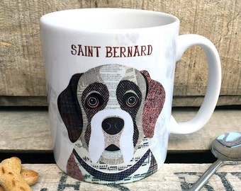 Saint Bernard personalised dog mug