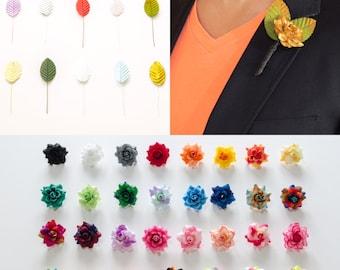 Customizable Rose Lapel Pin, Mens Lapel Pin, Flower Lapel Pin, Boutonniere, Mens Wedding Boutonniere, Wedding Boutonniere, Prom Boutonniere
