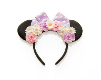 Daisy Duck Mouse Ears Headband, Flower Mouse Ears, Minnie Ears Headband, Mickey Ears Headband, Character Mouse Ear, Daisy Duck Costume