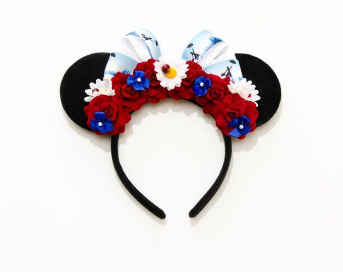 Nanny Poppins Mouse Ears Headband