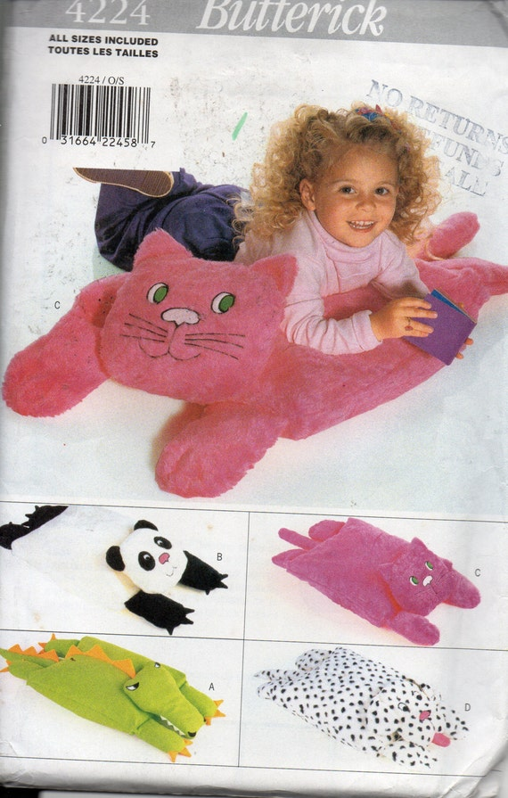 Animal Pillow Pals: Cat Panda Puppy and Dragon Sewing