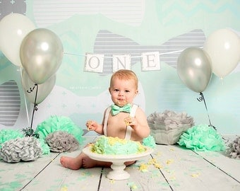 Boy First Birthday Banner, Boy 1st Birthday Decorations, Boy Smash Cake Banner, Boy Cake Smash Banner, Boy Birthday Decorations Banner