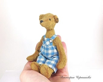 OOAK artist teddy bear ,Miniature Bear ,Teddy Bear