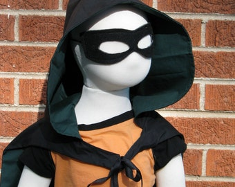 Green Arrow Inspired Cape and Mask Set