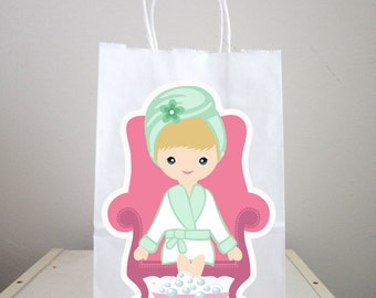 Spa Goody Bags, Spa Favor Bags, Spa Party Bags, Spa Birthday Party, Spa Favors, Pedicure Goody Bags