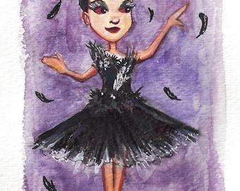 Black Swan Art Print- unframed