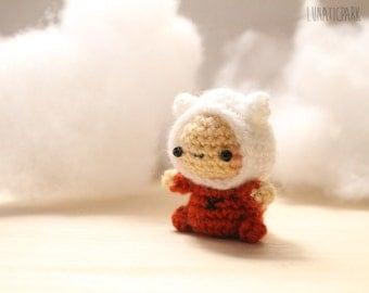 Cute chibi Finn pijama amigurumi adventure time character