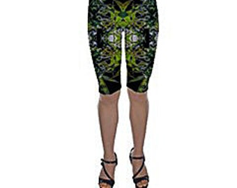 Bike Shorts:Cannabis Shorts in Blueberry Marijuana Print, Womens Bike Shorts,Biker Shorts,Cannabis Shorts,Ganja Shorts-Made to Order