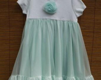 Size 3T Toddler Girls Twirly Dress - Size 3 Years Girls Vintage Nightie Dress - Size 3 Seaforam Green Princess Dress - Girls 3T Fancy Dress