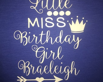 Children's Personalized Birthday Shirt