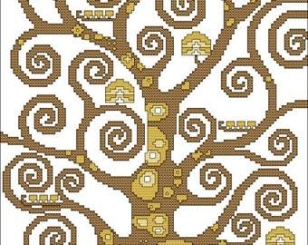 Klimt's Tree of Life Pattern