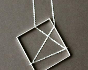 Sterling Silver modern pendant