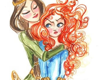 "Merida and Her Mum 8x10"" Fine Art Quality Print."