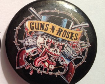 "Guns 'N' Roses 1.5"" Round Pin-Back Button, 1991 Original"